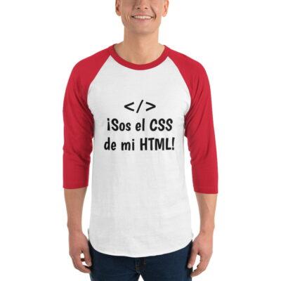 camiseta manga tres cuartos css